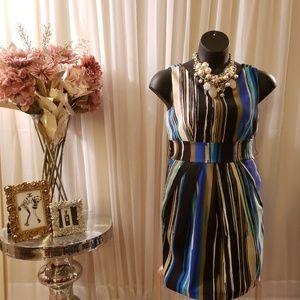💙Multicolored Business dress